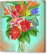 Billys Flowers Canvas Print
