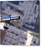 Binoculars View Of City Canvas Print