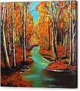 Birch River Canvas Print