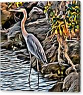 Bird By The Water Canvas Print
