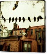 Bird Cityscape Canvas Print