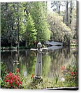 Bird Girl Of Magnolia Plantation Gardens Canvas Print