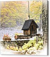 Bird House In Autumn Canvas Print