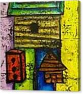 Bird House Whimsy Canvas Print