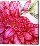 Bird In Bloom Canvas Print