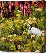 Bird In The Blooms Canvas Print