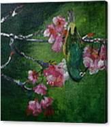 Bird N Blossom.... Canvas Print