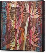 Bird Of Paradise With Lettering Canvas Print