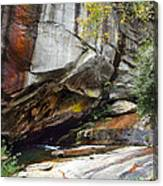 Bird Rock Waterfall Canvas Print