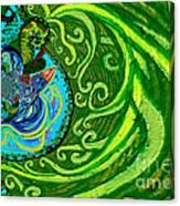 Bird Song Swirl Canvas Print