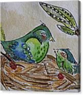 Bird Talk Canvas Print