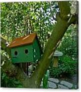 Birdhouse In A Tree Canvas Print