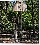 Birdhouses In The Trees Canvas Print