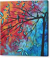 Birds And Blossoms By Madart Canvas Print