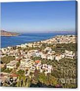 Birds Eye View Of Crete Greece Canvas Print