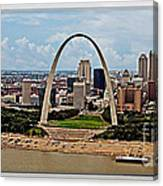 Bird's Eye View Of St.louis  Canvas Print
