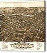 Bird's-eye View Of Youngstown Ohio 1882 Canvas Print