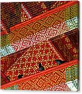 Birds In Rafters Of Royal Temple At Grand Palace Of Thailand  Canvas Print