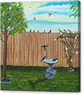 Birds In The Backyard Canvas Print