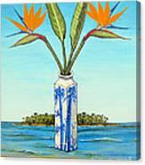 Birds Of Paradise Over Fiji Canvas Print