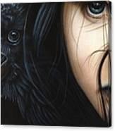 Birds Of Prey- Raven Canvas Print