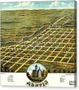 Birdseye View Of Austin Minnesota 1870 Canvas Print