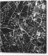 Birmingham, Historical Aerial Photograph Canvas Print