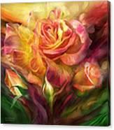 Birth Of A Rose - Sq Canvas Print