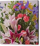Birthday Bouquet Card Canvas Print