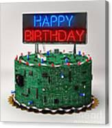 Birthday Cake For Geeks Canvas Print