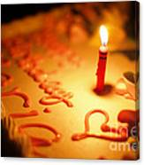 Birthday Cake With Candle Canvas Print