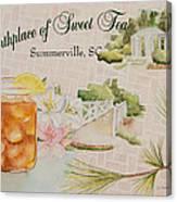 Birthplace Of Sweet Tea Canvas Print