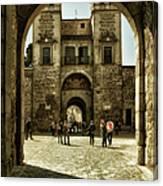 Bisagra Gate And Courtyard Canvas Print