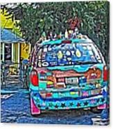 Bisbee Arizona Art Car Canvas Print
