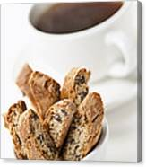 Biscotti And Coffee Canvas Print