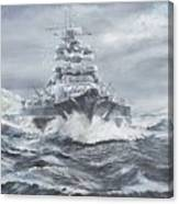 Bismarck Off Greenland Coast  Canvas Print