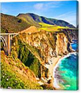 Bixby Creek Bridge Oil On Canvas Canvas Print