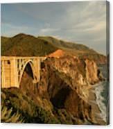 Bixby Creek Bridge In Big Sur Canvas Print