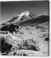Bizarre Landscape Bolivia Black And White Canvas Print