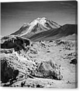 Bizarre Landscape Bolivia Black And White Select Focus Canvas Print