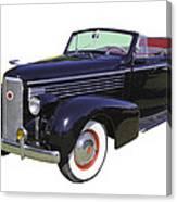 Black 1938 Cadillac Lasalle Canvas Print