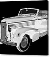 Black An White 1938 Cadillac Lasalle Pop Art Canvas Print
