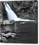 Black And Color Waterfall Canvas Print
