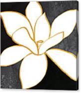 Black And Gold Magnolia- Floral Art Canvas Print