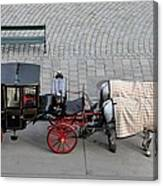 Black And Red Horse Carriage - Vienna Austria  Canvas Print