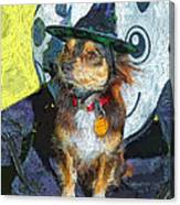 Black And Tan Chihuahua - Such A Good Little Witch Canvas Print