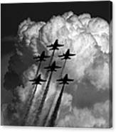 Black And White And Blue Angels Canvas Print