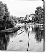 Black And White - Boathouse Row Canvas Print