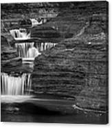 Black And White Cascade Canvas Print