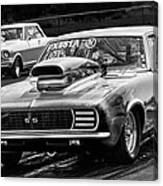 Black And White Chevy Camaro Ss Hotrod Canvas Print